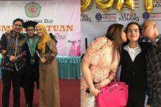 Momen 12 mantan pasangan seleb hadiri wisuda anak, banjir pujian