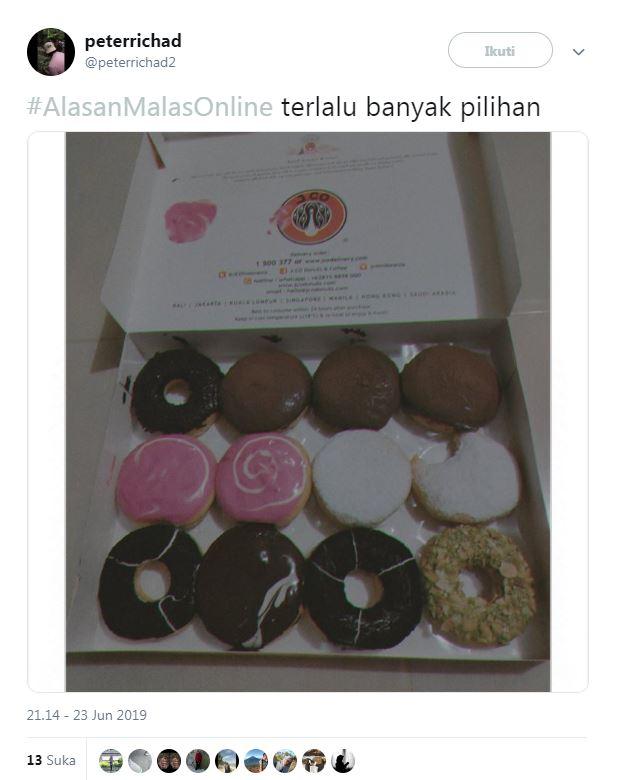 twit lucu #AlasanMalasOnline © 2019 brilio.net