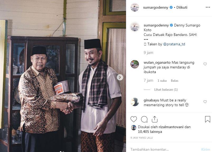 Momen Denny Sumargo raih gelar Datuk Minangkabau  © 2019 brilio.net