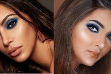 Tampil full makeup, 5 seleb ini disebut mirip Kim Kardashian