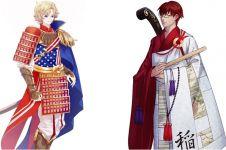 15 Karakter anime kece terinspirasi dari bendera berbagai negara