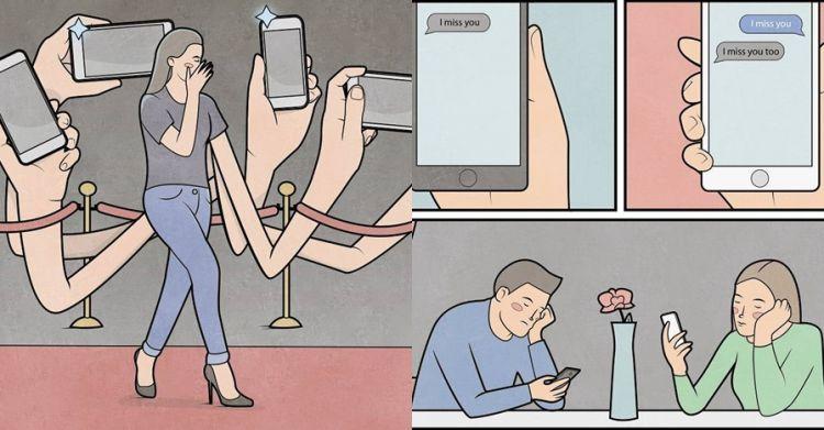 15 Ilustrasi ini sindir kehidupan sehari-sehari, ironis