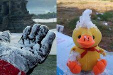 Sekilas mirip, ini perbedaan embun es Dieng dan salju di Eropa