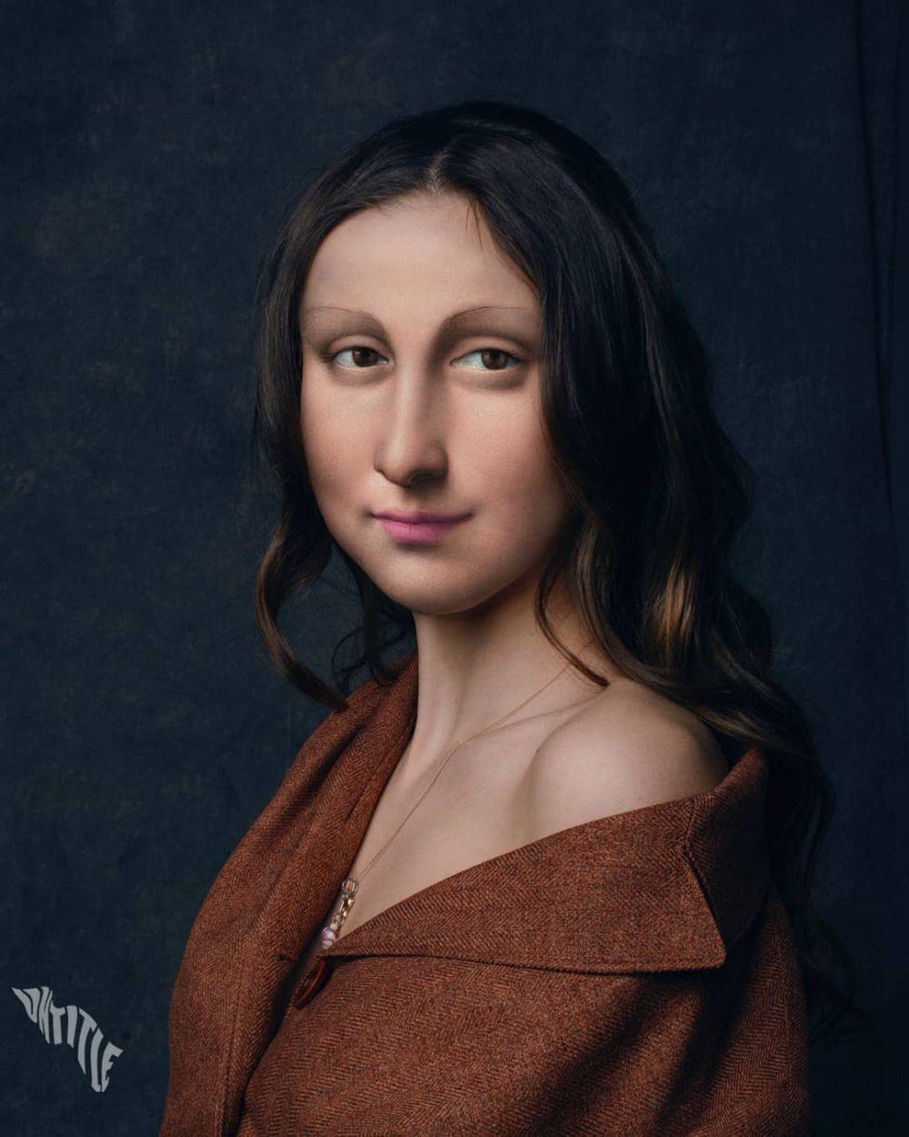 sosok lukisan terkenal jadi model kekinian © Instagram/@untitled.save