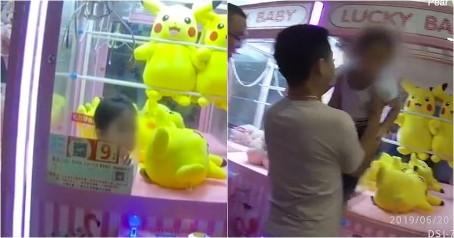 Kisah bocah terjebak di mesin capit boneka ini bikin ngelus dada
