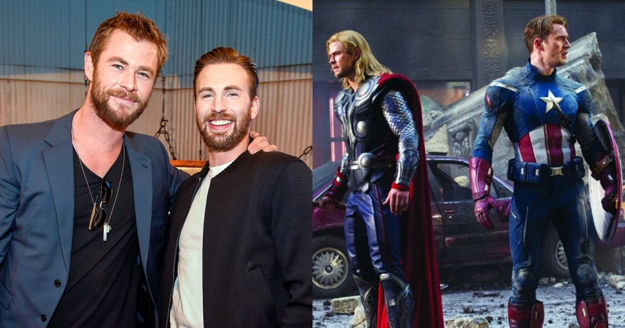 8 Momen kedekatan Chris Evans dan Chris Hemsworth, bromance Marvel