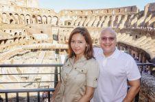 Unggah foto mesra di Italia, pose Maia Estianty & Irwan curi perhatian