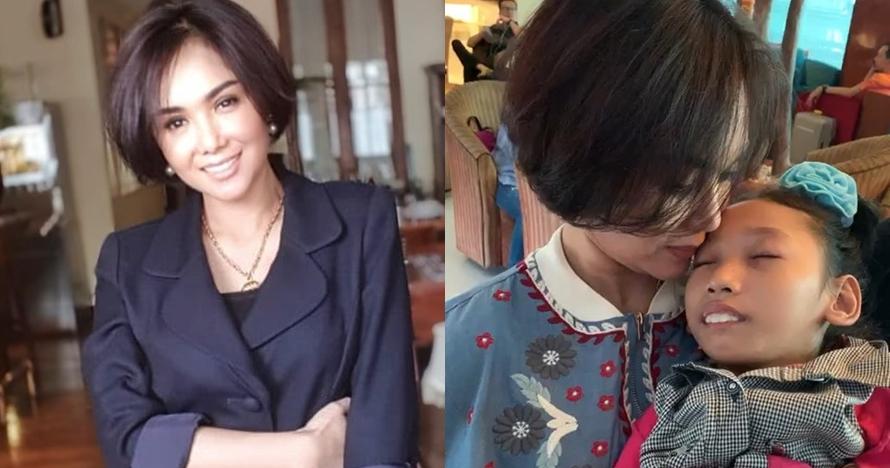 Aksi haru Yuni Shara gendong bocah korban bencana Palu, tuai pujian