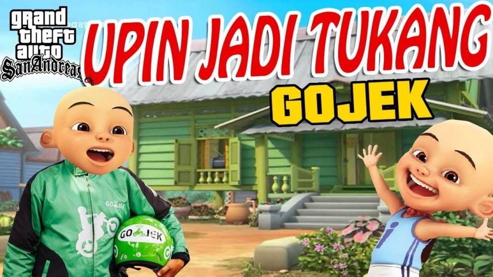 Upin Ipin jadi ojek online youtube