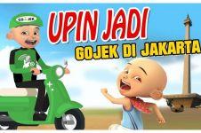 7 Foto editan jika Upin Ipin jadi driver ojek online ini bikin ngakak
