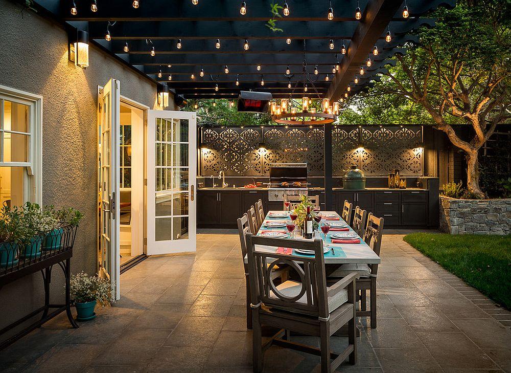 Desain ruang makan outdoor © 2019 brilio.net