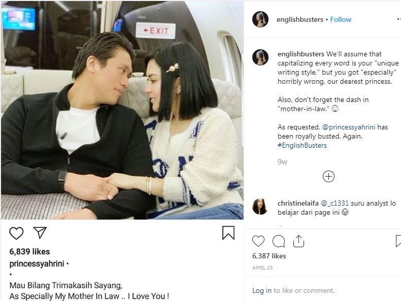 Caption seleb English busters instagram