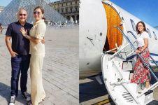 Unggah foto peluk suami di pesawat, pose Maia Estianty curi perhatian
