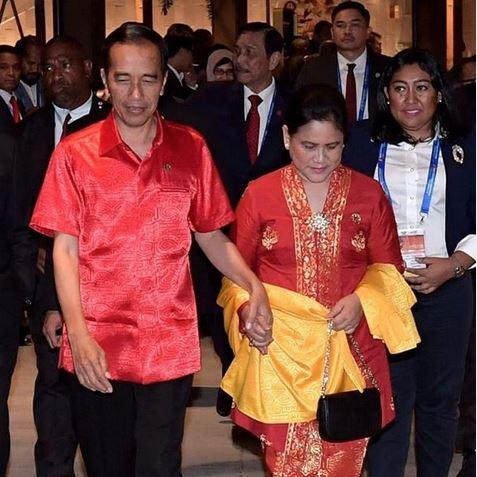 Potret Iriana kenakan kebaya dampingi Jokowi istimewa