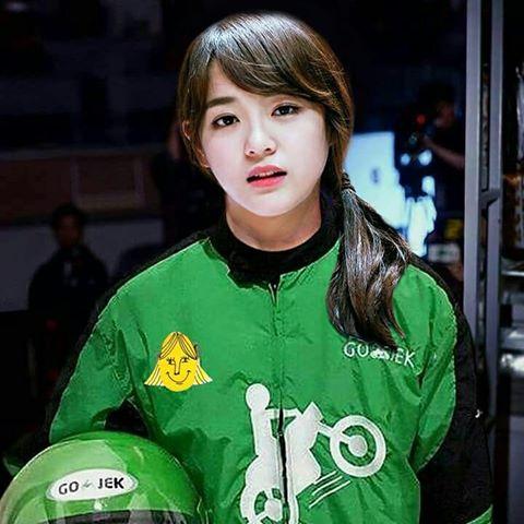 seleb Korea jadi ojek online instagram