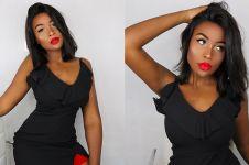 Makeup 13 jam demi tiru poster film, tampilan wanita ini bikin melongo
