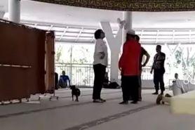 Wanita bawa anjing masuk masjid jadi tersangka penistaan agama