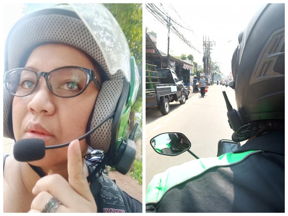 pakai teknologi canggih helm driver ojek online © Facebook/amanda.andono