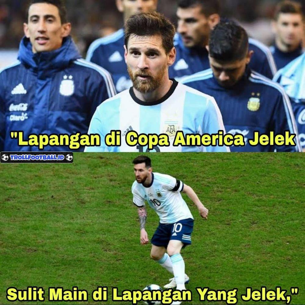 meme lucu argentina kalah brasil copa america 2019 © berbagai sumber