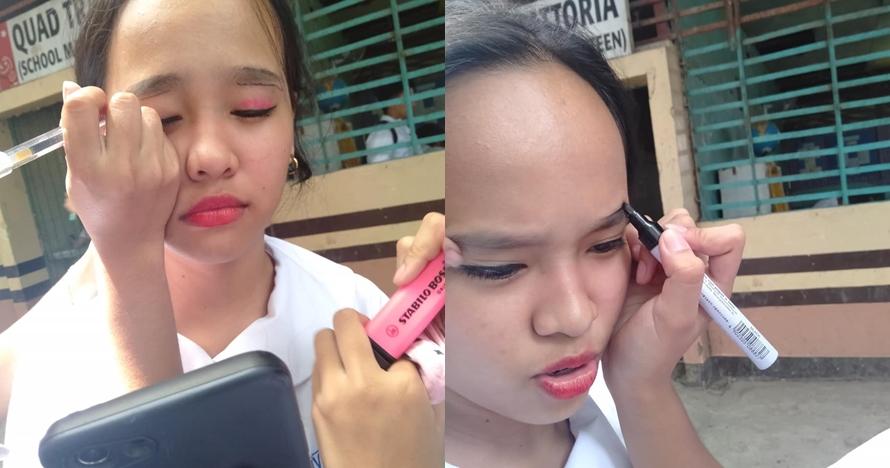 makeup pakai spidol pulpen © 2019 brilio.net