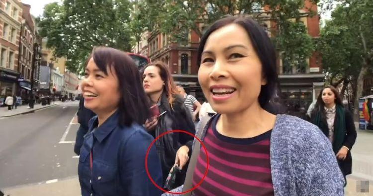 Detik-detik aksi copet terekam video vlog korbannya