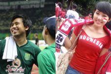 6 Momen seleb jadi suporter sepak bola, ada yang jadi dirigen