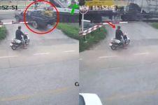 Ada kecelakaan di depan mata, reaksi pemotor ini bikin salah fokus