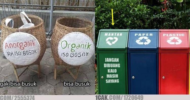 11 Tulisan lucu di tempat sampah ini mengundang senyum