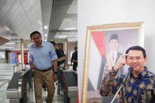 Basuki Tjahaja Purnama jajal MRT, sambutan riuh warga menghampiri