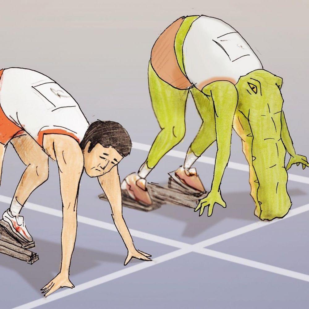 ilustrasi hewan olahraga © 2019 brilio.net