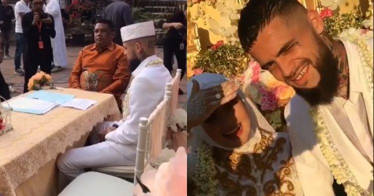 8 Momen pernikahan persepak bola Diego Michiels dan Dhea Ananda