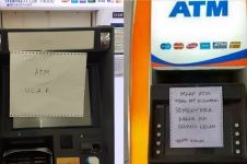 Nggak biasa, 7 tulisan di ATM rusak ini kocak abis