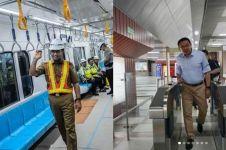 Momen 5 tokoh publik naik MRT, terbaru Basuki Tjahaja Purnama