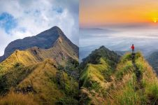 7 Potret eksotisme 'Punggung Naga' Gunung Piramid, terjal & menantang