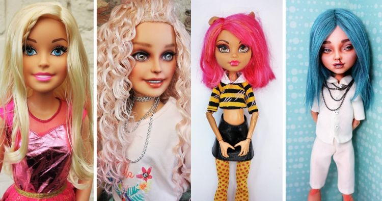 10 Potret boneka dilukis ulang jadi kekinian ini hasilnya manglingi