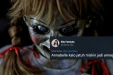 10 Cuitan lucu pelesetan nama Annabelle ini receh tapi kocak