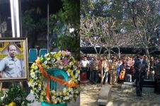9 Foto pemakaman Sutopo Purwo Nugroho, disemayamkan secara militer