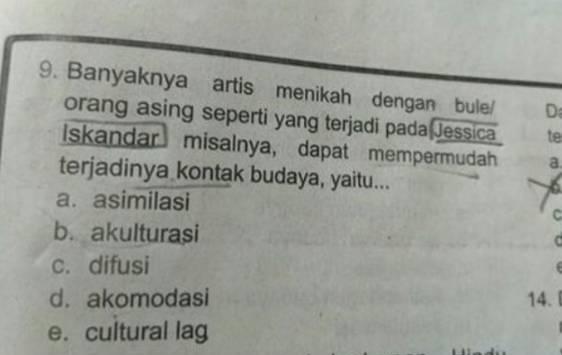ujian sekolah nama artis © 2019 berbagai sumber
