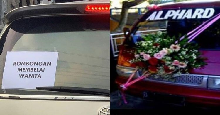 9 Tulisan lucu di kendaraan pengantin ini bikin tepuk jidat