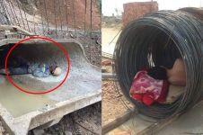 6 Foto pekerja tidur di tumpukan material, perjuangannya berat