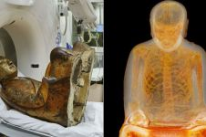 Heboh patung Buddha usia 1.000 tahun berisi tulang utuh manusia