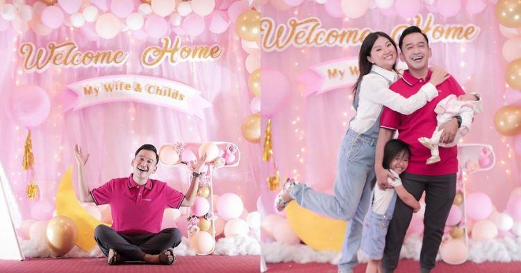 8 Momen penyambutan Sarwendah pulang ke Indonesia, serba pink