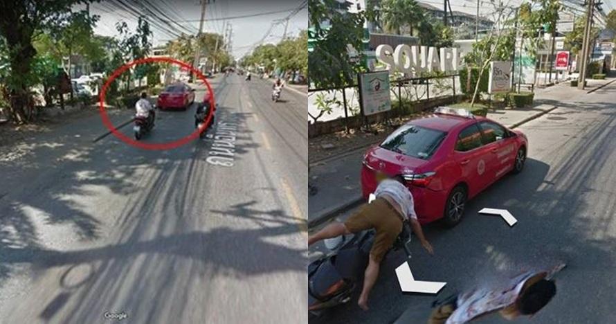 momen apes terekam google street view © berbagai sumber