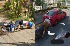 10 Momen apes terekam Google Street View, bikin ngelus dada