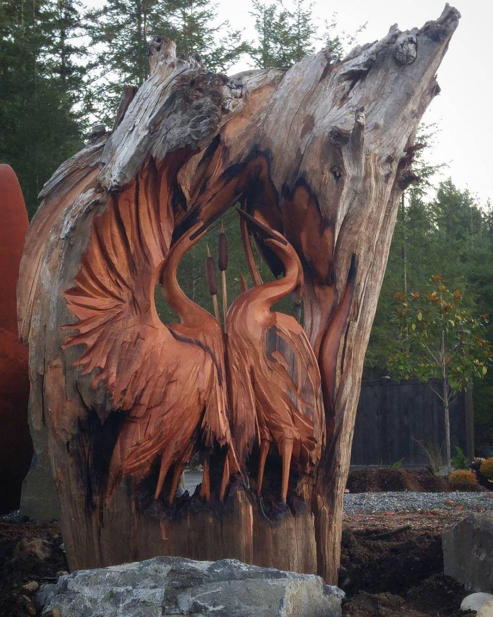 patung hewan kayu © 2019 brilio.net