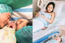 9 Momen bahagia istri Arnold Poernomo melahirkan anak pertama