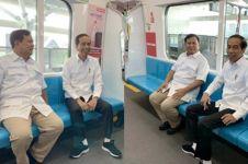 Potret Jokowi dan Prabowo bertemu di MRT, banyak yang bersyukur