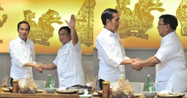 Momen Jokowi & Prabowo makan sate bersama di Senayan FX Sudirman