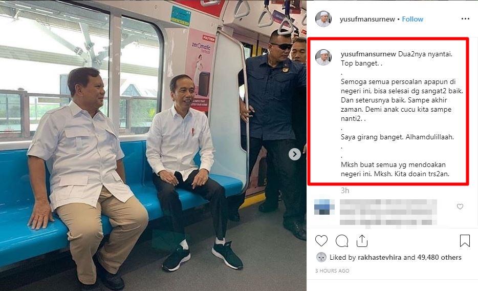 respons seleb Jokowi-Prabowo © 2019 brilio.net
