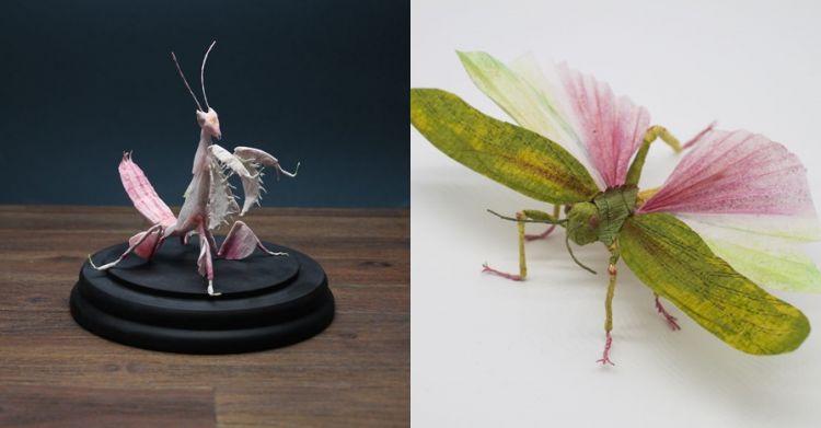 10 Replika serangga terbuat dari kertas ini terlihat nyata banget